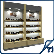 2014 handig schoen-display showcase/hout schoenenwinkel display racks