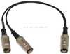Midi Y cable Straight 5 Pin to Straight 7 Pin Midi Crossover Cable