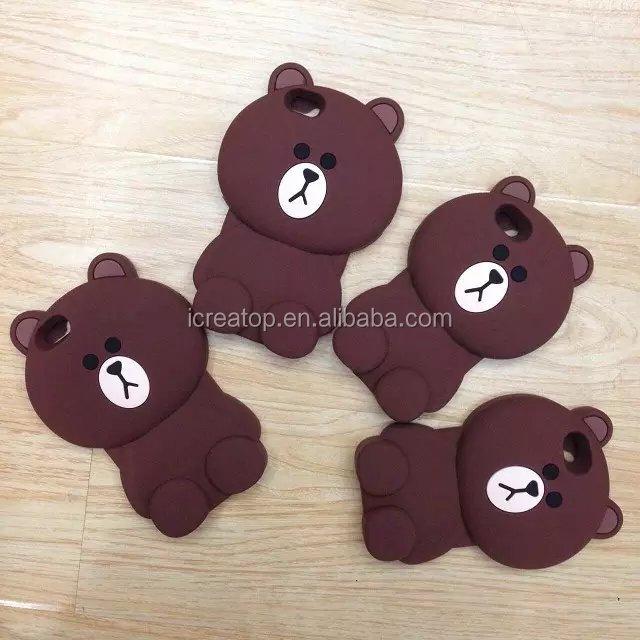 caso de telefone 2017 urso pequeno presente urso marrom dos desenhos