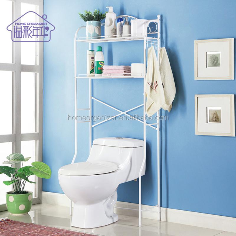 2 Shelf Bathroom Space Saver Storage Organizer Over The Toilet