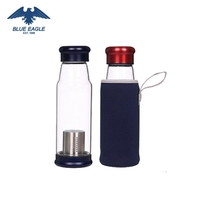 Promotional machine made glass juice bottle