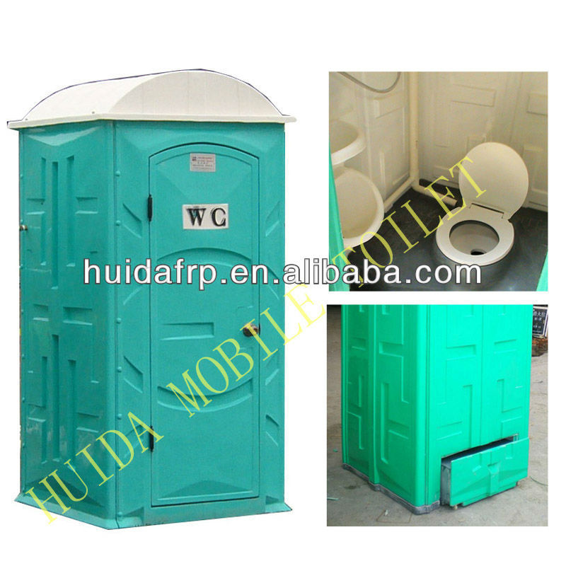 sale!China Huida good price western type fiberglass mobile portable toilet for public for outdoor activities