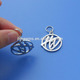 advertising mini cut out logo metal pendant tag charms