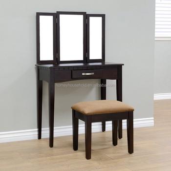 Wholesale Mirrored Bedroom Furniture Dresser Top Decoration Vanity Rotating Mirror Dressing Table Makeup