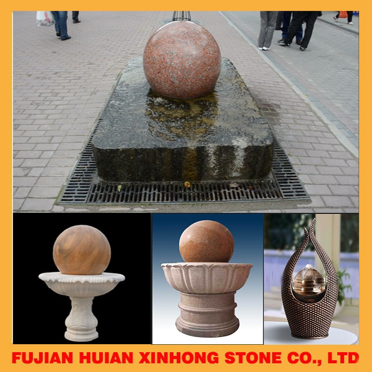 Natural Floating Spheres Water Fountain Garden Stone Ball