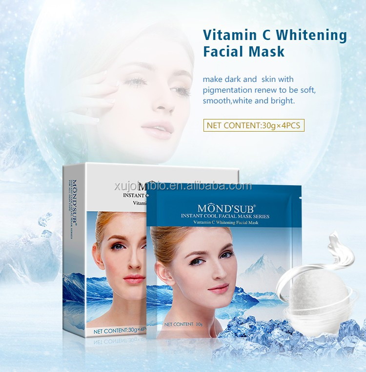 Perfect silk cool moisturizing facial mask for skin care product