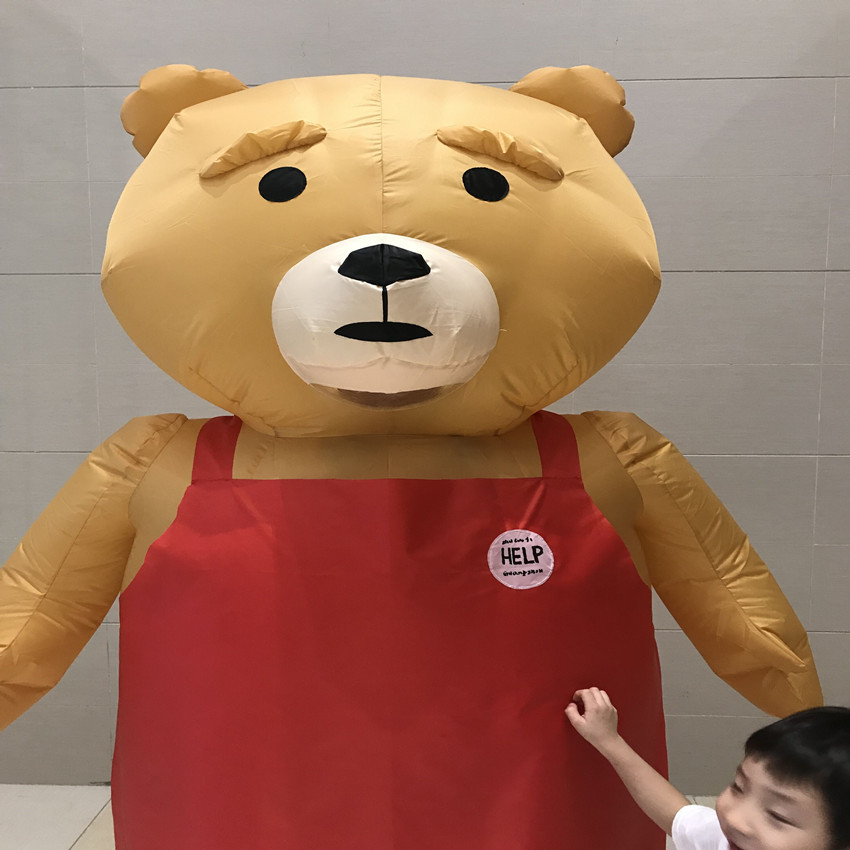 2018 Newest Halloween Inflatable Bear Costume for Adult