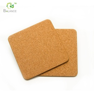 Customized blank cork coaster pads, durable cork tea cup coaster pads