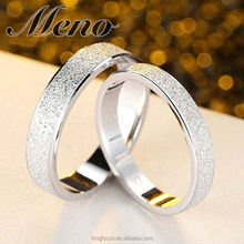 Meno S925 silver ring Korean style fashion lover man lady gift sanded couple jewelry