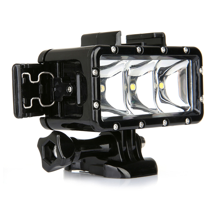 For GoPro hero7,waterproof action camera LED underwater Diving Light for SJCAM Xiao Yi