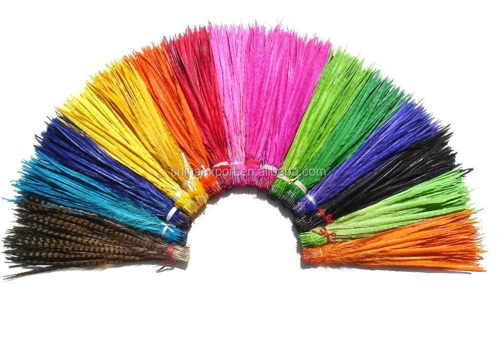 DIY new fashion natural colorful pheasant feathers