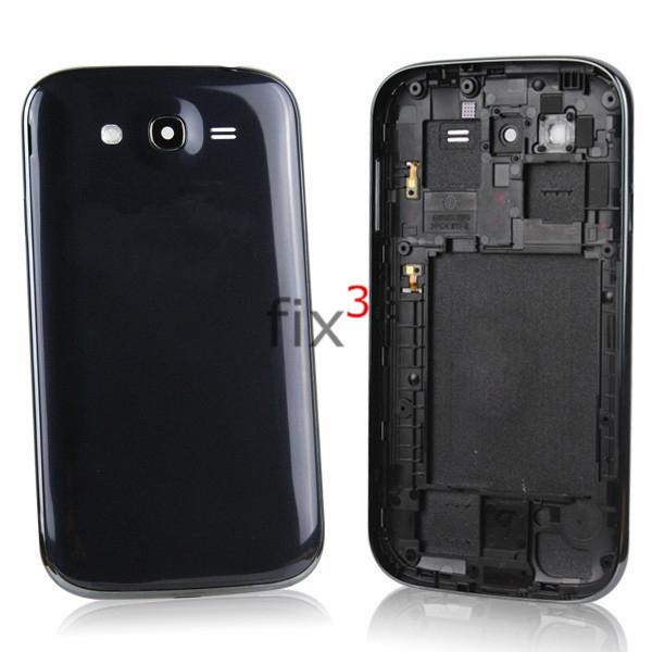 Оригинальный задняя крышка батарейного отсека корпуса с кнопками для Samsung Галактика Гранд Duos i9082 черный / синий