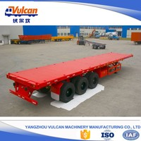 Heavy truck tri axle flatbed container semi-trailer for sale