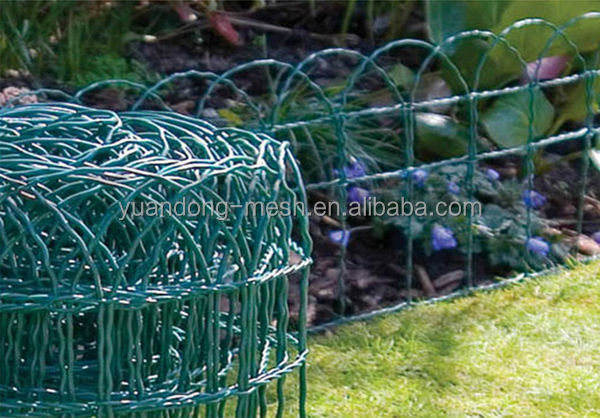 Plastic Coated Border Green Garden WIre Mesh Fence
