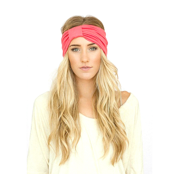 Solid Color Custom Wholesale Twisted Knotted Elastic Turban Headband ... 0ccb5b72e36