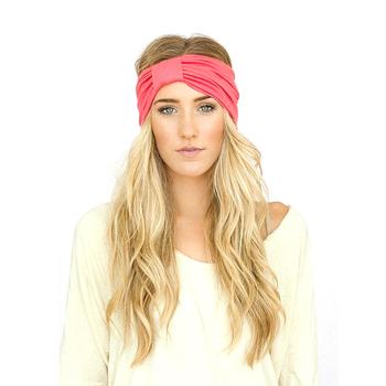 Solid Color Custom Wholesale Twisted Knotted Elastic Turban Headband ... 34af6177c50