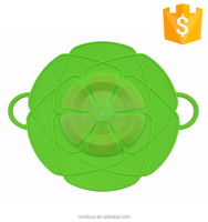 New Design Customized Flexible Boil Over Spill Stopper Superior Kitchen Silicone Pot Lid Cover
