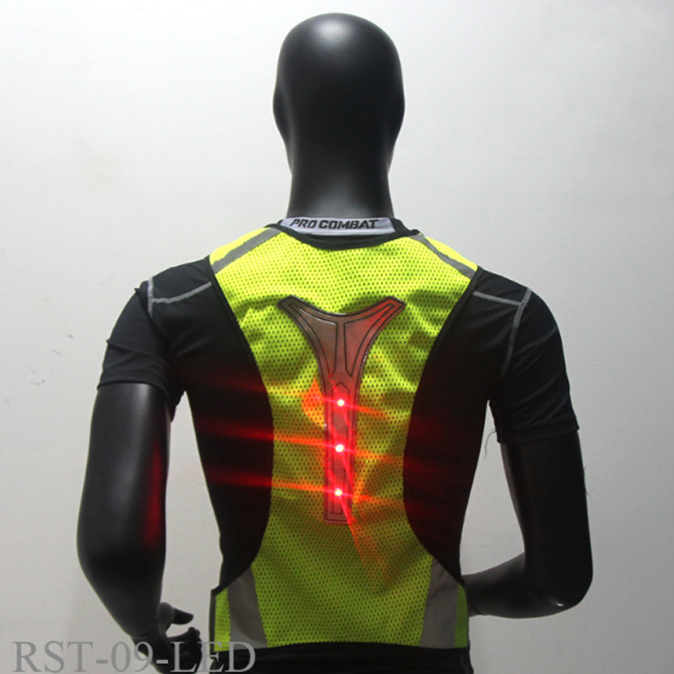 2019 neue ultra dünne atmungsaktive outdoor sports night run fluoreszierende weste radfahren led signal weste