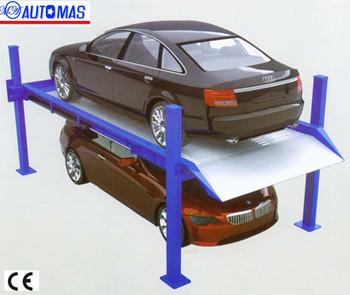 Portable Car Lift/ Four Post Car Lift Bridge Jack/car Lifting Equipment  With Ce - Buy Hydraulic Four Pillars Car Parking Lift For Sale,Car Parking
