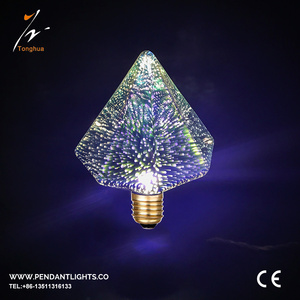 3D LED Bulbs C125 Firework bulb E27 1.5W Decorative Bulbs Festival Lights