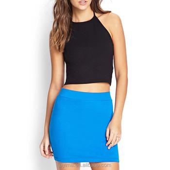 Blue mini skirt sexy