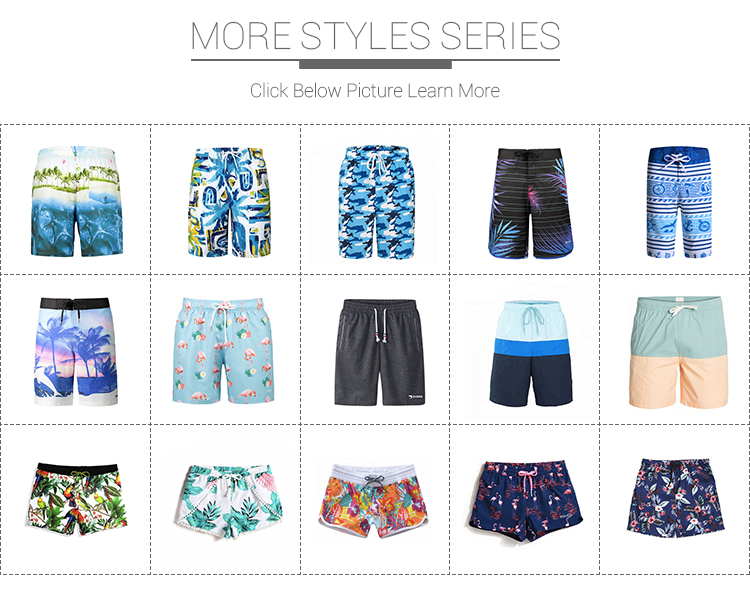 Custom sublimation design plam printed men and women couple matching beach short pants swimwear swimsuit