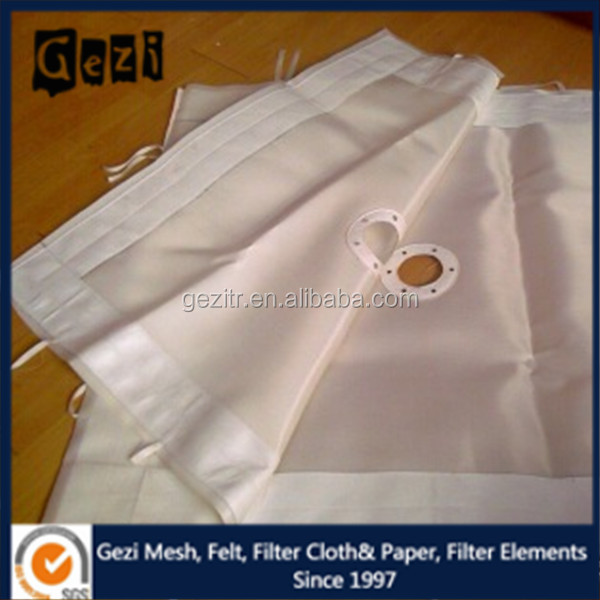 Gezi 40-500um micron thread diameter polypropylene/polyester/nylon staple woven mono filter cloth for fiber filter