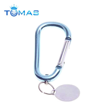 Cute Aluminum locking spring snap hook with key ring