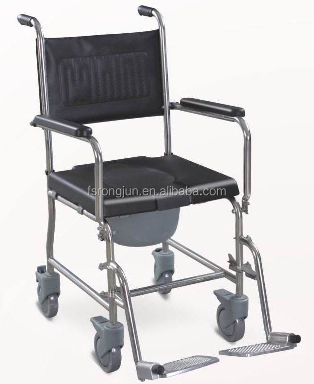 Handicapped Equipment Adult Potty Chair /toilet Chair With Wheels ...