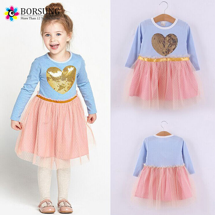 Cotton Frocks Designs Sequin Baby Girl Clothes Princess Tutu Children's Dresses kids Clothes