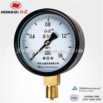 Air Compressor Pressure Gauge Single Tube Manometer Steam Boiler ...