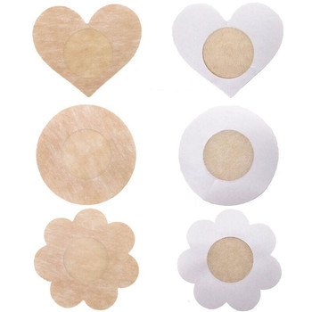 Wholesale Women Braless Breast Pasties Non woven Fabric Disposable nipple cover