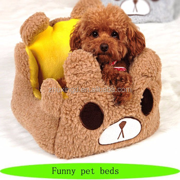 Car shaped dog bed, cozy craft pet beds, plush animal shaped pet bed