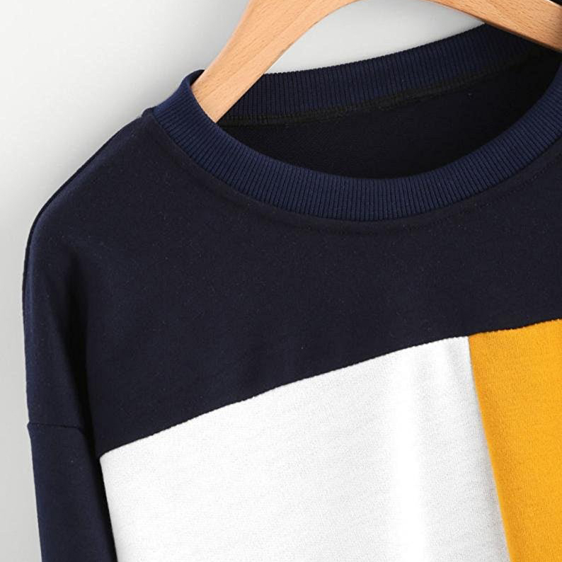 wholesale women off shoulder 60% cotton 40% polyester autumn casual crewneck sweatshirt plain
