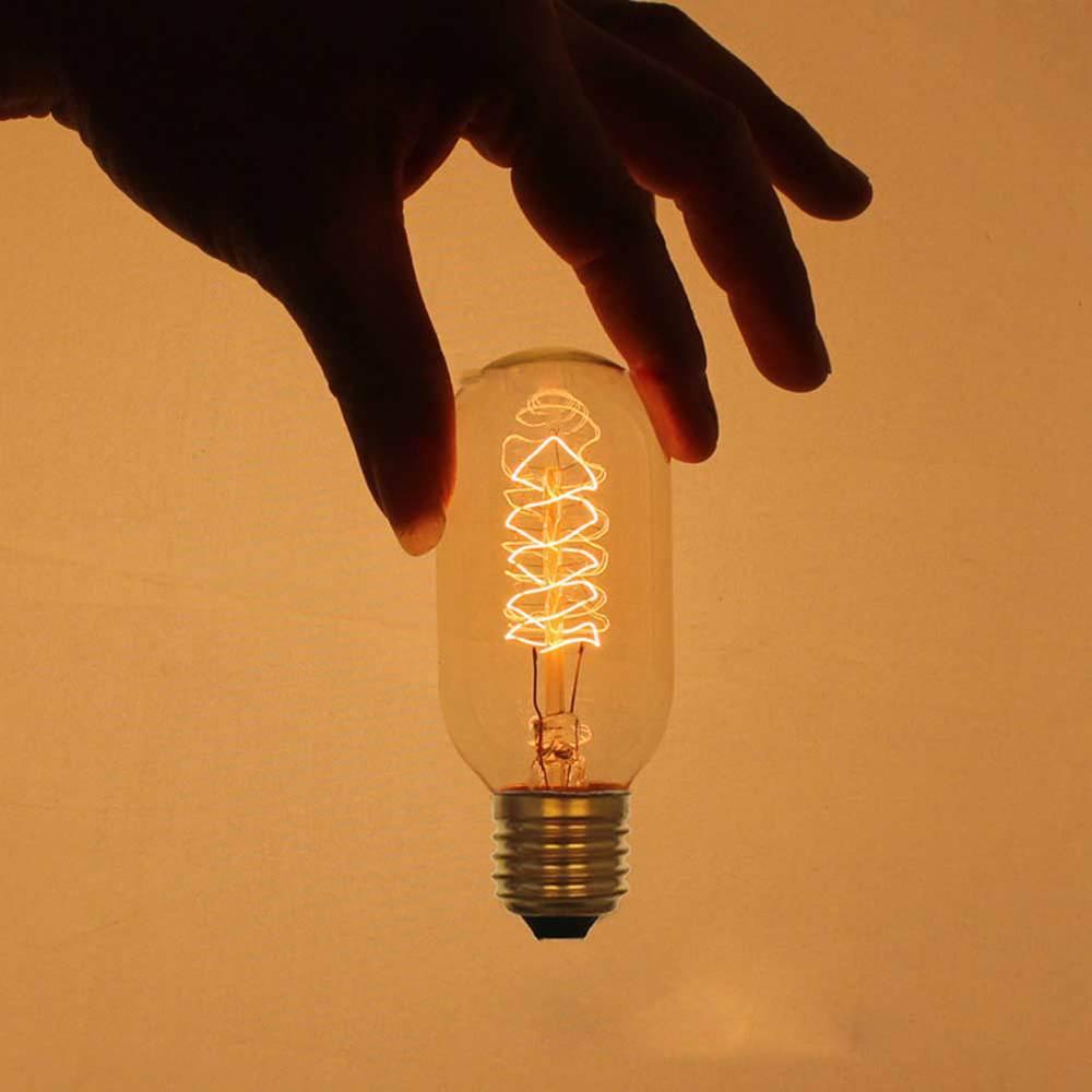 Industrial Halogen Light Bulbs: E27 Edison Lamp 40W 220V Lighting Filament Straight