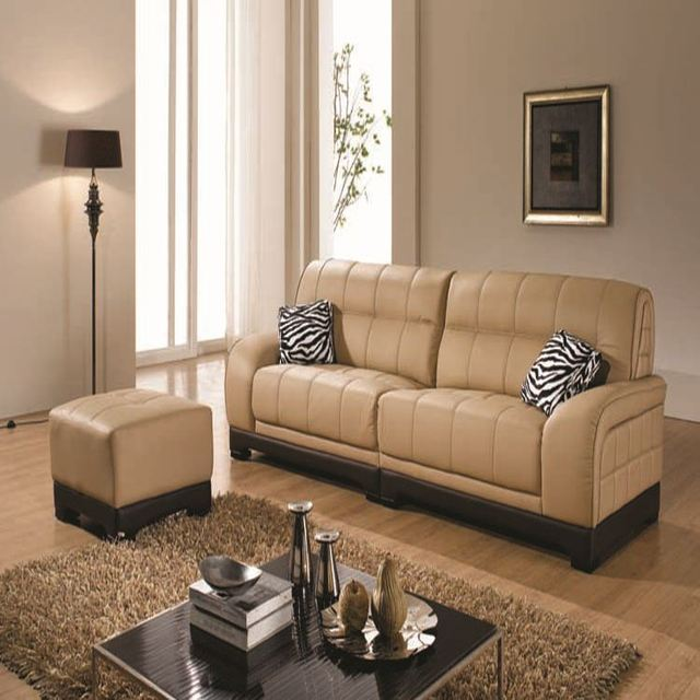 Hot Commercial Sectional Used Soft Line Leather Sofa Fabric