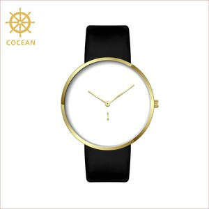Cocean Minimalist Stainless Steel Water Resistant Sport Leather Band Quartz Watches