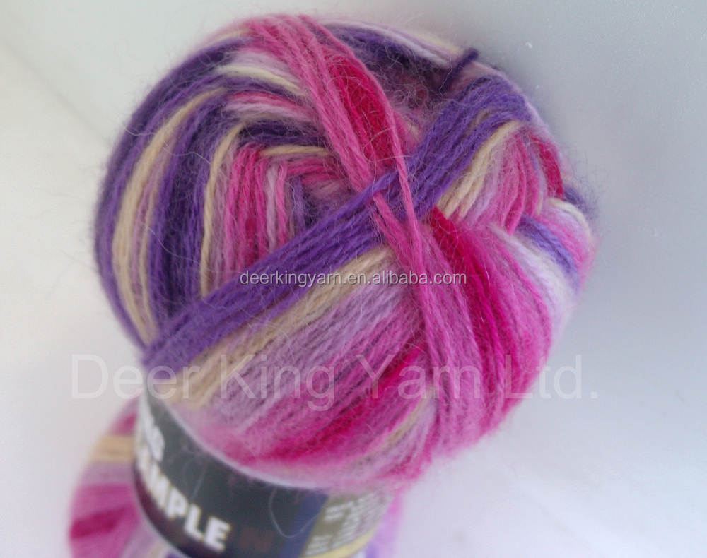 2/28Nm 85%bulky acrylic 15%wool stock service / cheap sock yarn