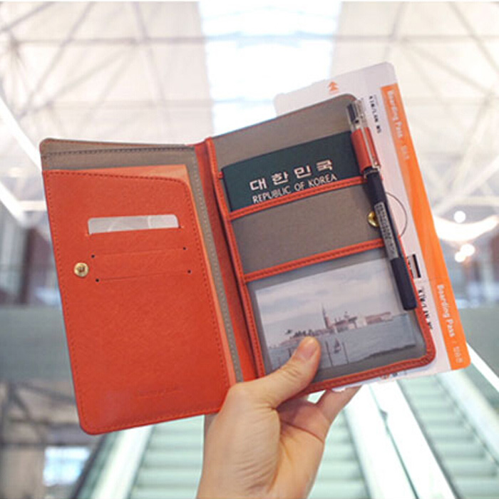 Multifunction passport wallet purse passport holder bag men and women long  section 56fce3483