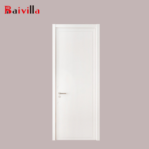 2018 new structure wooden villa panels mdf door factory back door