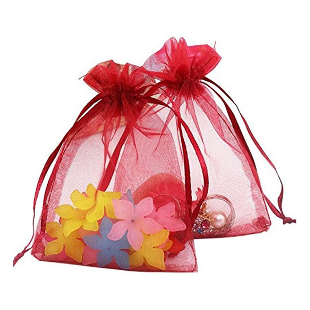 Buy Green Gift Bags, Christmas Candy Bags, Small Party Favor Bags ...