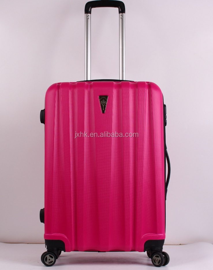 customized ABS hard case luggage sky travel world trolley bags