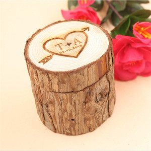 Wholesale Ornament Wooden ring box with lid and logo