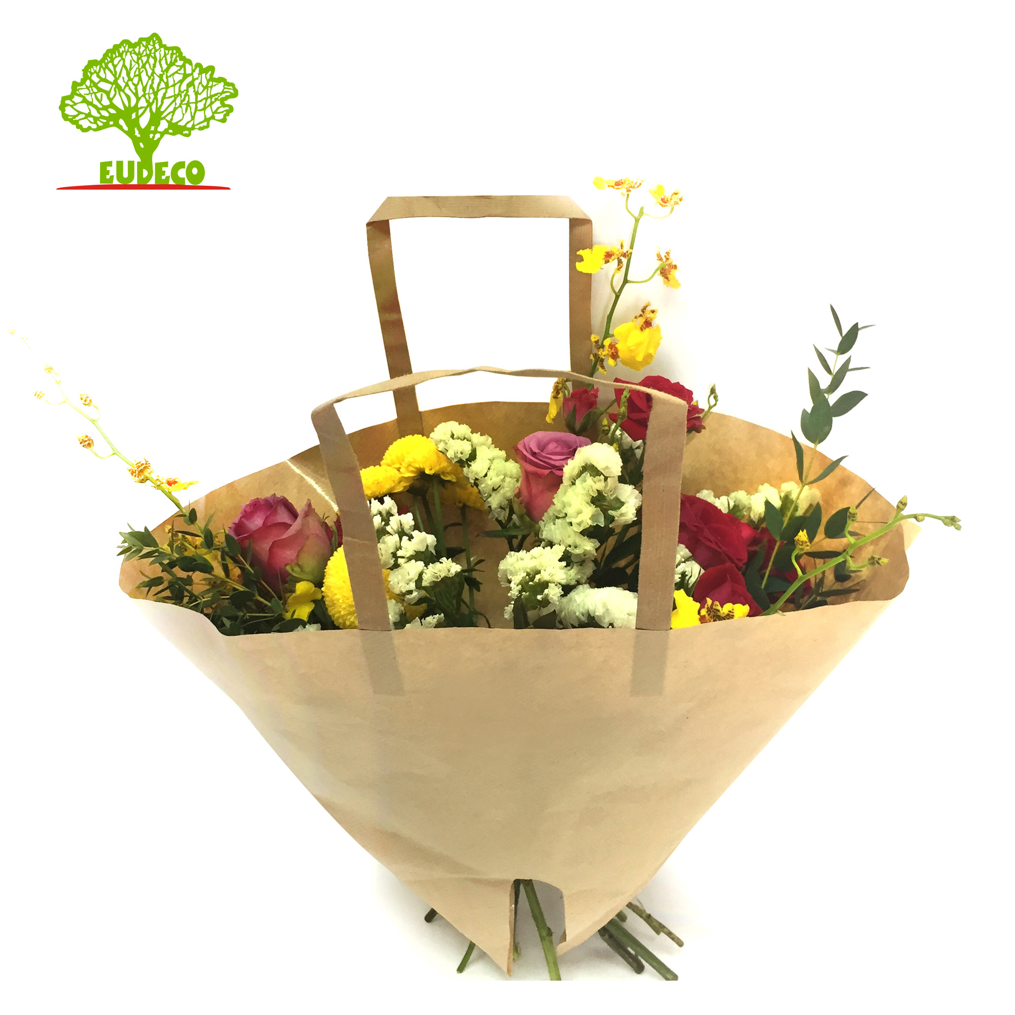 Kraft Paper Laminated Bag Moon For Flower Packing And Decoration Buy Flower Carry Bag Laminated Kraft Paper Sleeve Kraft Paper Sleeve Product On Alibaba Com