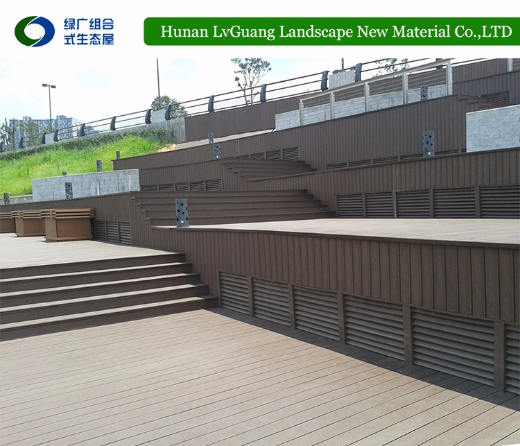 2017 WPC New design wood composite decking with high quality