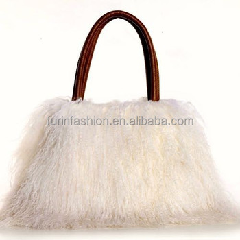 5e5ec7bf03 2017 2018 New Products Ladies Genuine Mongolian Lamb Fur Bag for Elegant  Women with Cheap