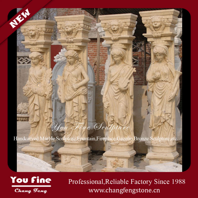 Four Seasons Marble Statue Columns
