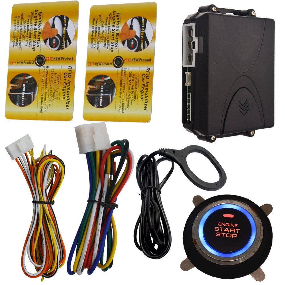 Get Quotations · Automotive RFID Invisible Car Alarm With Engine Start Stop  Feature
