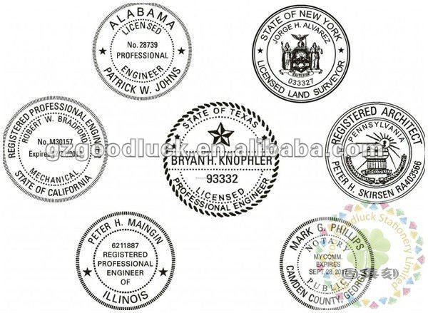 Notary Long reach desk seal stamp/Custom Logo design Nortary embossing seals