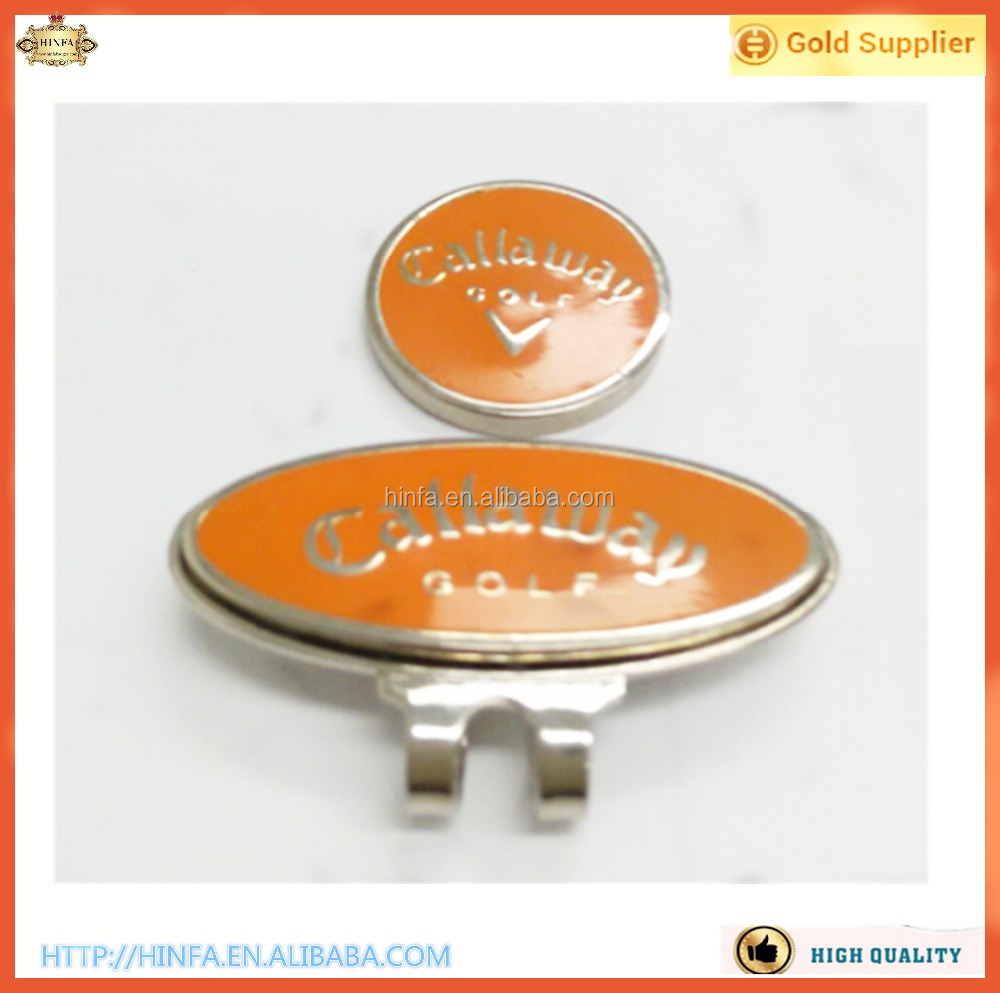 Metal Golf Hat Clip Set with Magnetic Ball Marker, Removable Ball Marker